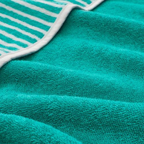 RÖRANDE - towel with hood, striped/green | IKEA Hong Kong and Macau - PE756669_S4