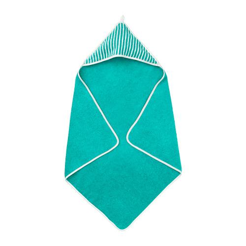 RÖRANDE - towel with hood, striped/green | IKEA Hong Kong and Macau - PE756668_S4