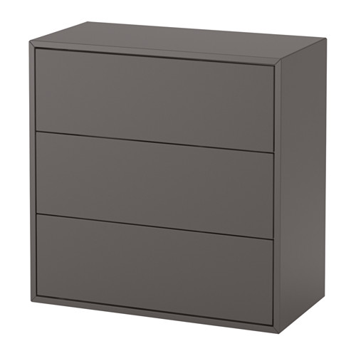 EKET - cabinet with 3 drawers, dark grey | IKEA Hong Kong and Macau - PE615058_S4