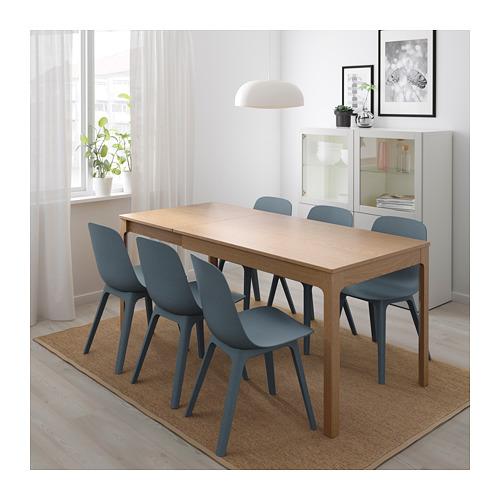 ODGER/EKEDALEN - 一檯四椅, 橡木/藍色 | IKEA 香港及澳門 - PE717620_S4