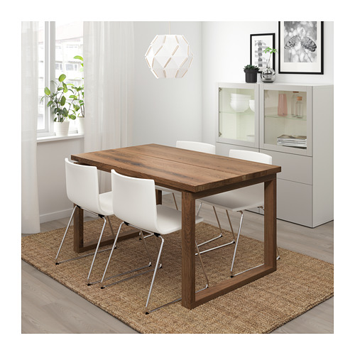 BERNHARD/MÖRBYLÅNGA - table and 4 chairs, brown/Mjuk white | IKEA Hong Kong and Macau - PE717678_S4