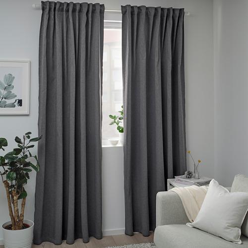 BLÅHUVA - 遮光窗簾,一對,深灰色 | IKEA 香港及澳門 - PE756677_S4