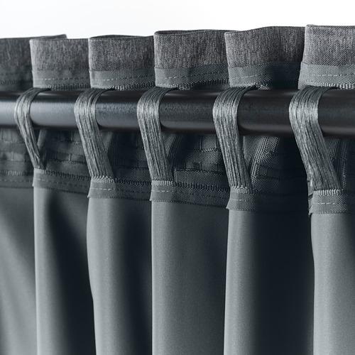 BLÅHUVA - 遮光窗簾,一對,深灰色 | IKEA 香港及澳門 - PE756681_S4