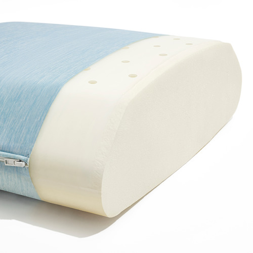HÅRGÄNGEL - ergonomic pillow, side/back sleeper, light blue | IKEA Hong Kong and Macau - PE812438_S4