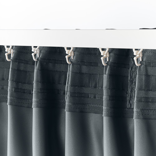 BLÅHUVA - 遮光窗簾,一對,深灰色 | IKEA 香港及澳門 - PE756680_S4