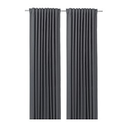 BLÅHUVA - 遮光窗簾,一對,深灰色 | IKEA 香港及澳門 - PE756679_S3