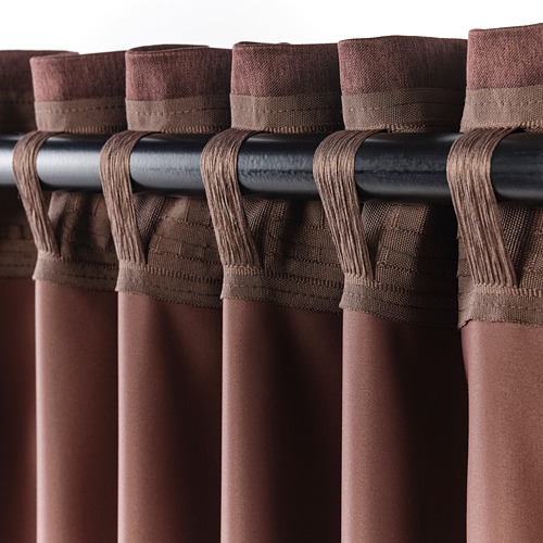 BLÅHUVA - block-out curtains, 1 pair, brown-red | IKEA Hong Kong and Macau - PE756686_S4