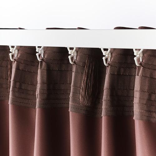 BLÅHUVA - block-out curtains, 1 pair, brown-red | IKEA Hong Kong and Macau - PE756685_S4