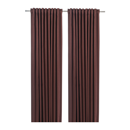 BLÅHUVA - block-out curtains, 1 pair, brown-red | IKEA Hong Kong and Macau - PE756684_S4
