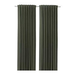 BLÅHUVA - 遮光窗簾,一對, 綠色 | IKEA 香港及澳門 - PE756689_S3