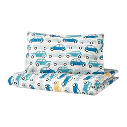 RÖRANDE - 嬰兒被套枕袋套裝, 車/藍色 | IKEA 香港及澳門 - PE756699_S3