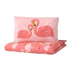 RÖRANDE - 嬰兒被套枕袋套裝, flamingo/pink | IKEA 香港及澳門 - PE756705_S3