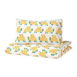 RÖRANDE - 嬰兒被套枕袋套裝, turtle yellow | IKEA 香港及澳門 - PE756710_S3