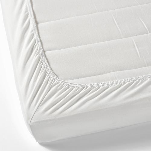 LEN - fitted sheet, white   IKEA Hong Kong and Macau - PE614231_S4