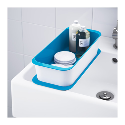 GESSAN - box with lid, white/blue | IKEA Hong Kong and Macau - PE553337_S4