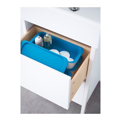 GESSAN - box with lid, white/blue | IKEA Hong Kong and Macau - PE553338_S4