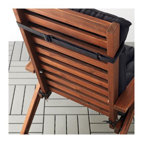 HÅLLÖ - seat/back cushion, outdoor, black | IKEA Hong Kong and Macau - PE615243_S4