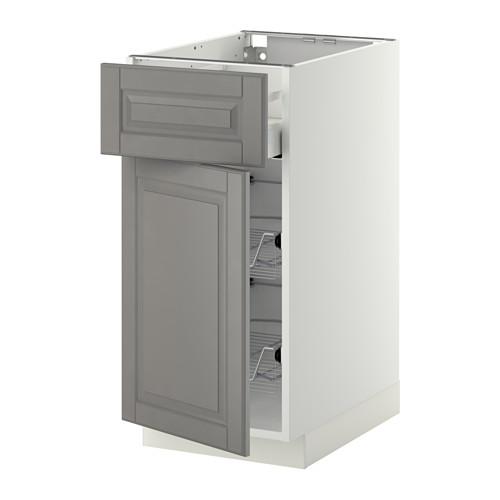 METOD/MAXIMERA base cab w wire basket/drawer/door