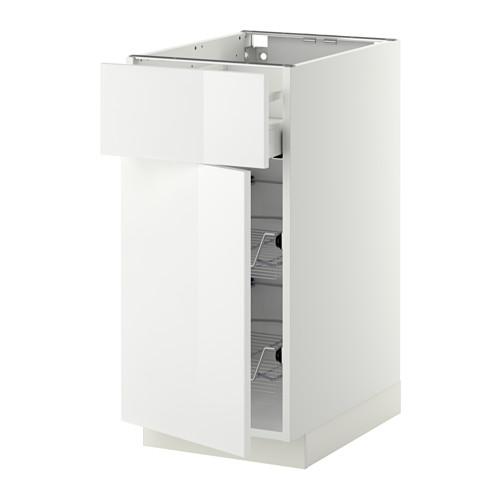 METOD/MAXIMERA - 地櫃連鋼條籃/抽屜/門, white/Ringhult white | IKEA 香港及澳門 - PE410368_S4