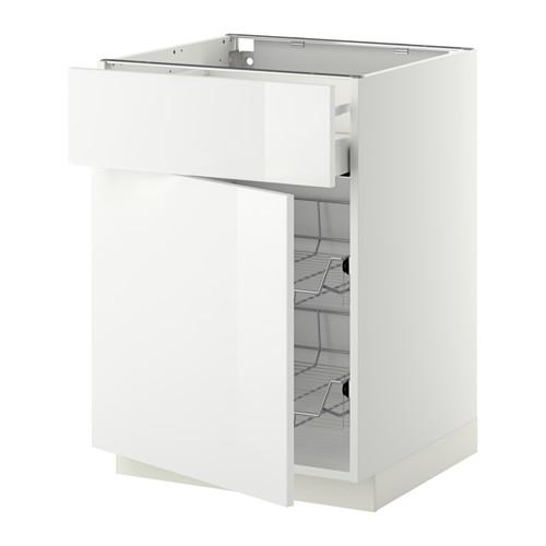 METOD/MAXIMERA - base cab w wire basket/drawer/door, white/Ringhult white | IKEA Hong Kong and Macau - PE410414_S4