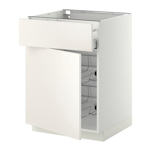 METOD/MAXIMERA - base cab w wire basket/drawer/door, white/Veddinge white | IKEA Hong Kong and Macau - PE410420_S4