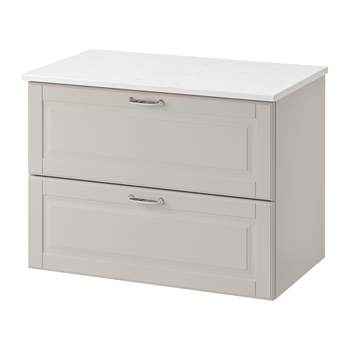 TOLKEN/GODMORGON wash-stand with 2 drawers