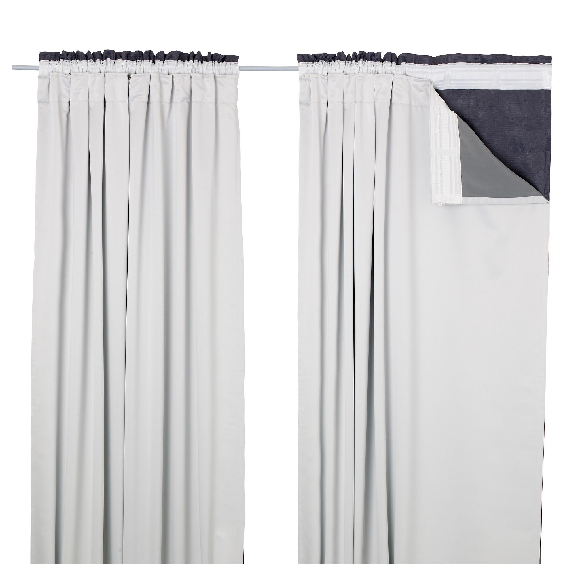 GlansnÄva Curtain Liners 1 Pair Light Grey Ikea Hong Kong