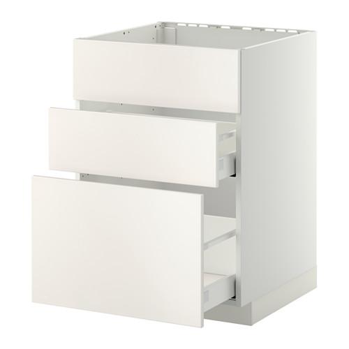 METOD/MAXIMERA - base cab f sink+3 fronts/2 drawers, white/Veddinge white | IKEA Hong Kong and Macau - PE410190_S4
