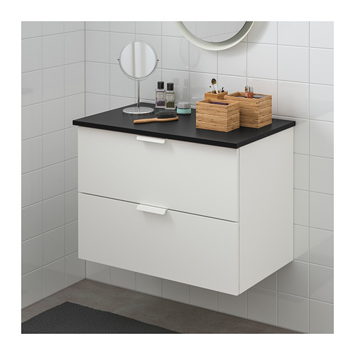 TOLKEN/GODMORGON - wash-stand with 2 drawers, white/anthracite | IKEA Hong Kong and Macau - PE718132_S4