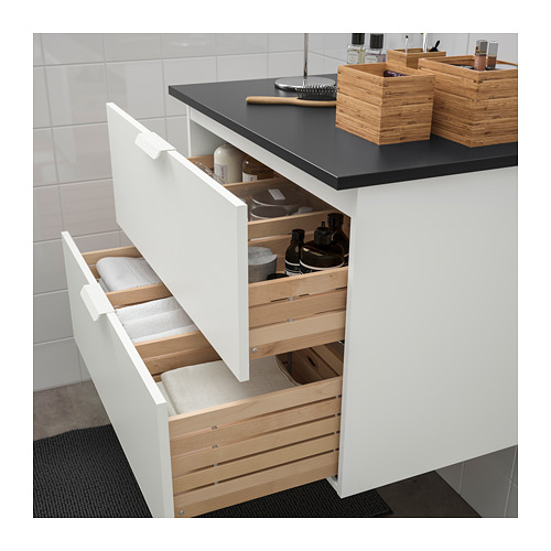 TOLKEN/GODMORGON - wash-stand with 2 drawers, white/anthracite | IKEA Hong Kong and Macau - PE718134_S4