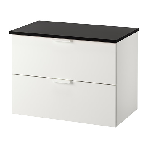 TOLKEN/GODMORGON - wash-stand with 2 drawers, white/anthracite | IKEA Hong Kong and Macau - PE718133_S4
