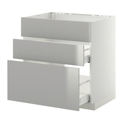 METOD 爐具地櫃連3面板/2抽屜