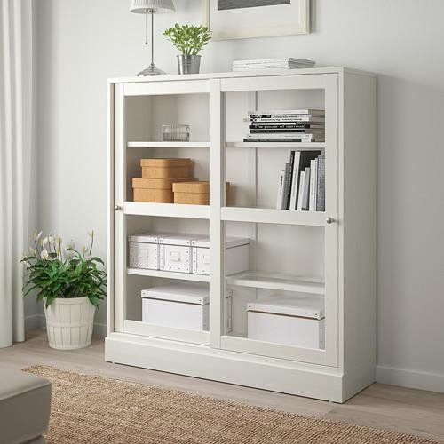 HAVSTA - 玻璃門貯物櫃連腳座板, 白色/透明玻璃 | IKEA 香港及澳門 - PE718279_S4