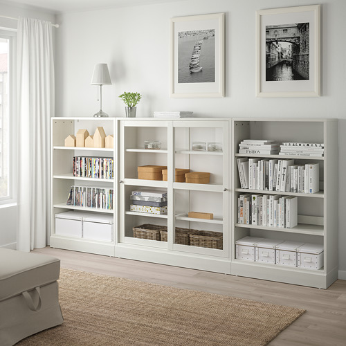 HAVSTA - storage comb w sliding glass doors, white | IKEA Hong Kong and Macau - PE718304_S4