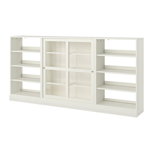 HAVSTA - storage comb w sliding glass doors, white | IKEA Hong Kong and Macau - PE718303_S4