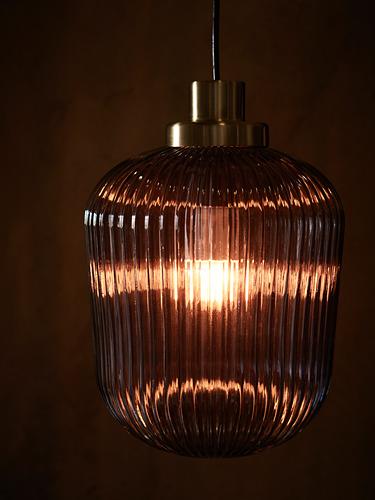 SOLKLINT - pendant lamp, brass/grey clear glass | IKEA Hong Kong and Macau - PH172563_S4