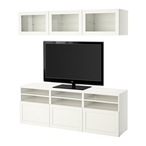 BESTÅ - 電視貯物組合/玻璃門, Hanviken 白色/透明玻璃 | IKEA 香港及澳門 - PE553181_S4