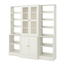 HAVSTA - 玻璃門貯物組合, 白色   IKEA 香港及澳門 - PE718320_S3
