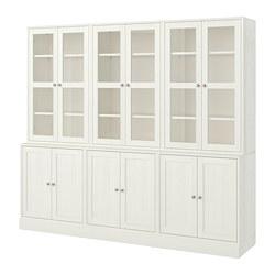 HAVSTA - 貯物組合連玻璃門, 白色 | IKEA 香港及澳門 - PE718327_S3