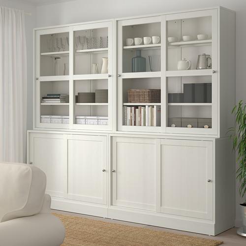 HAVSTA - 玻璃門貯物組合, 白色   IKEA 香港及澳門 - PE718326_S4
