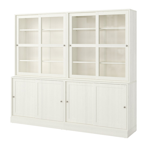 HAVSTA - 玻璃門貯物組合, 白色   IKEA 香港及澳門 - PE718325_S4