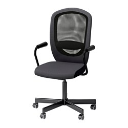 FLINTAN/NOMINELL - office chair with armrests, grey | IKEA Hong Kong and Macau - PE615649_S3