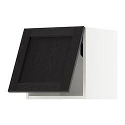 METOD - wall cabinet horizontal w push-open, white/Lerhyttan black stained | IKEA 香港及澳門 - PE718364_S3