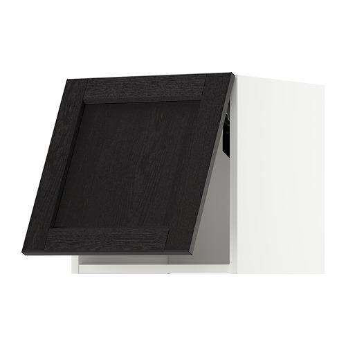 METOD - wall cabinet horizontal w push-open, white/Lerhyttan black stained | IKEA Hong Kong and Macau - PE718364_S4