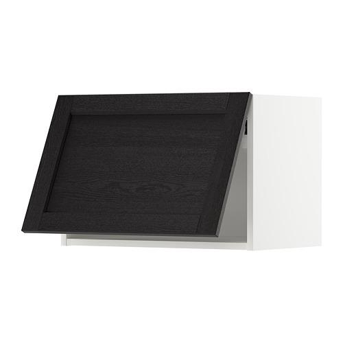 METOD - wall cabinet horizontal w push-open, white/Lerhyttan black stained | IKEA Hong Kong and Macau - PE718365_S4