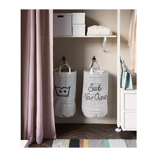 KLUNKA - 洗衣袋, 白色/黑色 | IKEA 香港及澳門 - PH154527_S4