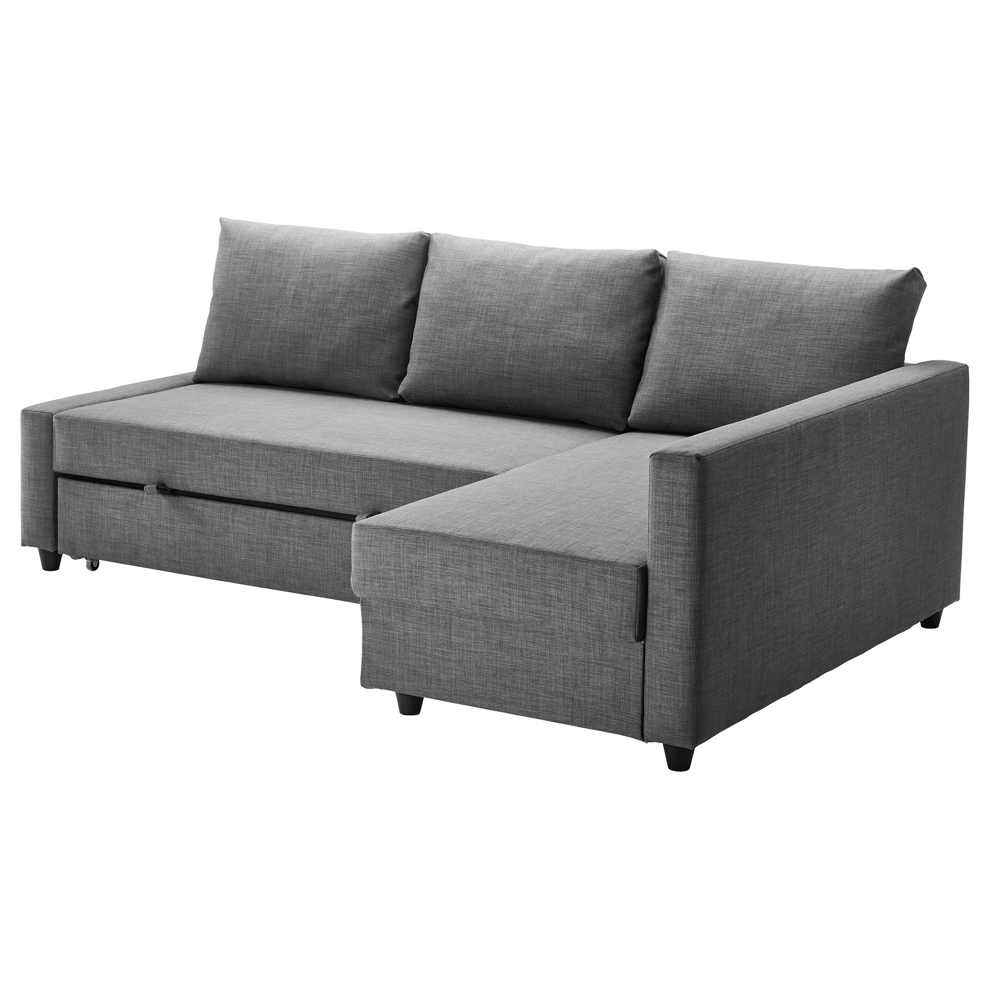 - FRIHETEN - Corner Sofa-bed With Storage, Skiftebo Dark Grey IKEA