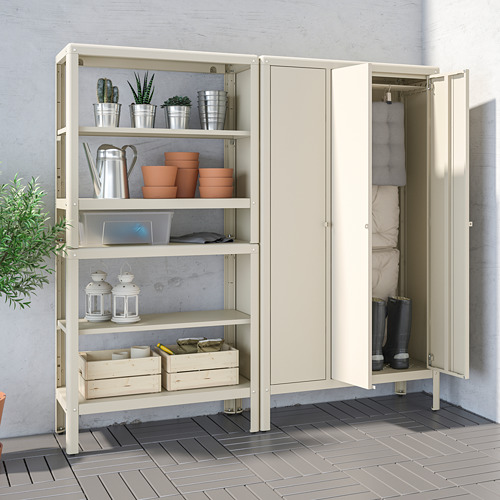KOLBJÖRN - shelving unit with cabinet, beige | IKEA Hong Kong and Macau - PE718464_S4