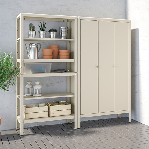 KOLBJÖRN - shelving unit with cabinet, beige | IKEA Hong Kong and Macau - PE718466_S4