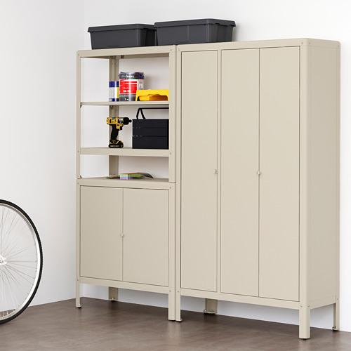 KOLBJÖRN - shelving unit with 2 cabinets, beige | IKEA Hong Kong and Macau - PE718486_S4